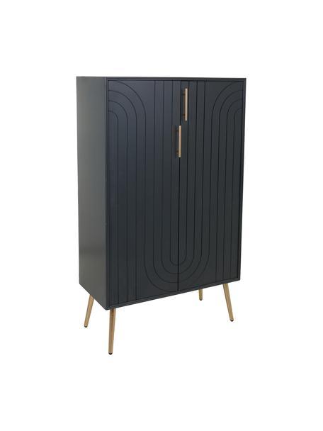 Chiffonier Adrian, Estructura: madera, Azul, An 75 x Al 127 cm