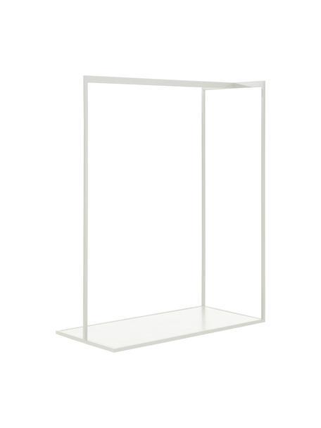 Burro en look mármol Pacey, Estructura: metal con pintura en polv, Estante: tablero de fibras de dens, Blanco, An 120 x Al 152 cm