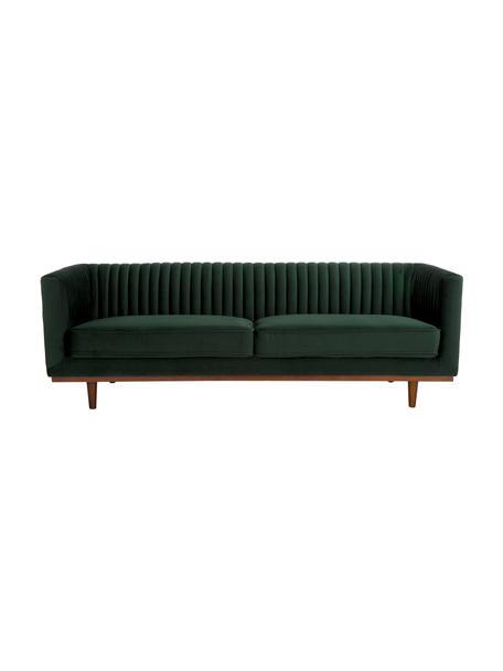 Sofá de terciopelo Dante (3plazas), Tapizado: terciopelo de poliéster, Estructura: madera de caucho lacada, Terciopelo verde, An 210 x F 87 cm