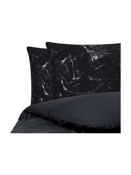 Parure copripiumino reversibile in cotone Malin, Tessuto: percalle Densità del filo, Nero, bianco, 255 x 200 cm