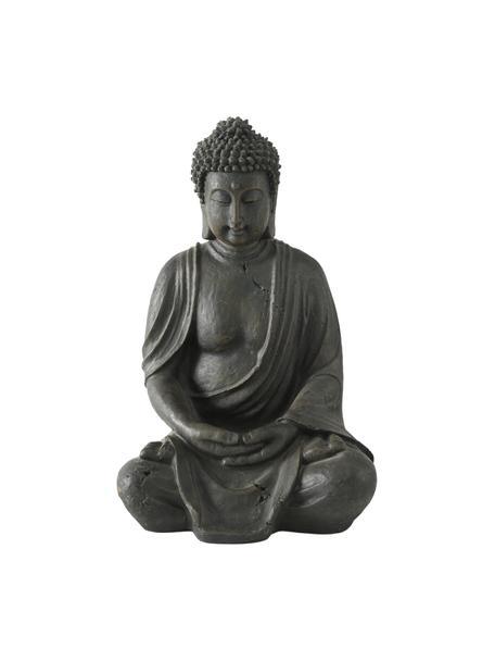 Deko-Objekt Buddha, Kunststoff, Schwarzbraun, 26 x 40 cm