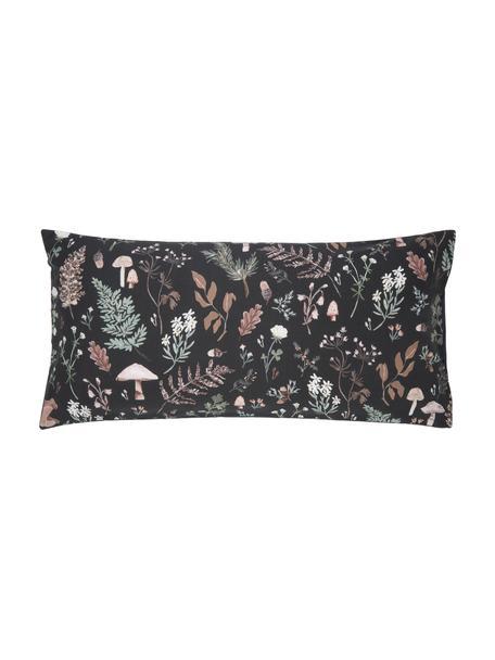 Designer Perkal-Kopfkissenbezüge Mushroom aus Bio-Baumwolle von Candice Gray , 2 Stück, Webart: Perkal Fadendichte 180 TC, Anthrazit, Mehrfarbig, 40 x 80 cm