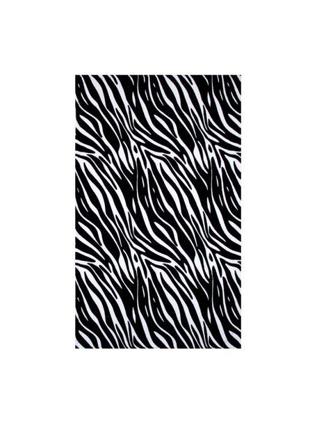 Ręcznik plażowy Zebra, 100% bawełna Niska gramatura 350 g/m², Czarny, biały, S 90 x D 160 cm