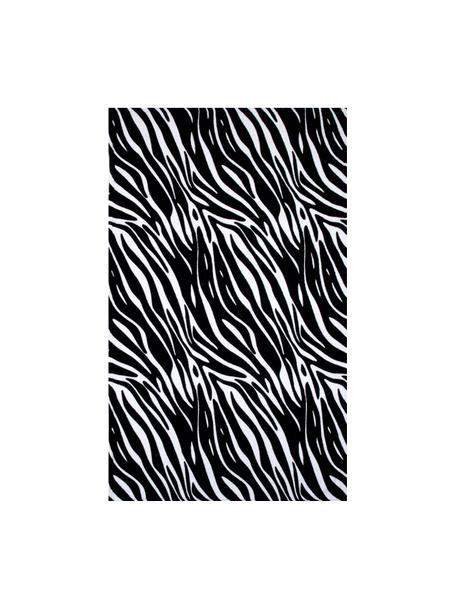 Toalla de playa Zebra, Negro, blanco, An 90 x L 160 cm