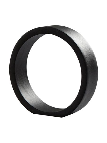 Decoratief object ring, Gecoat aluminium, Zwart, 14 x 14 cm