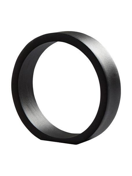 Dekoracja Ring, Aluminium powlekane, Czarny, S 14 x W 14 cm