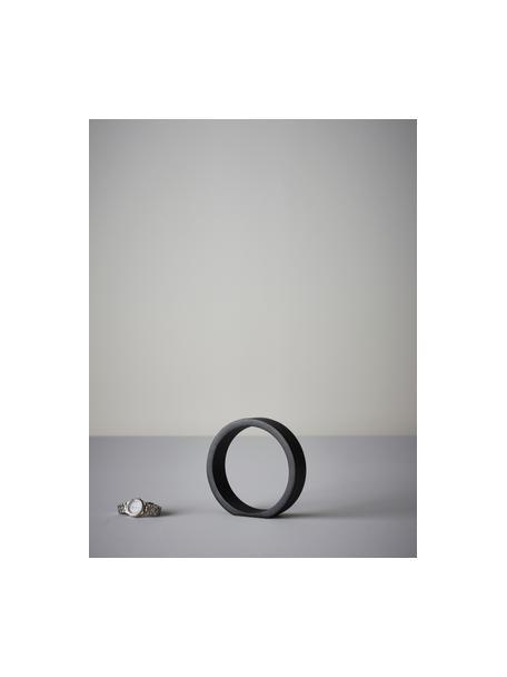 Pieza decorativa Ring, Aluminio recubierto, Negro, An 14 x Al 14 cm