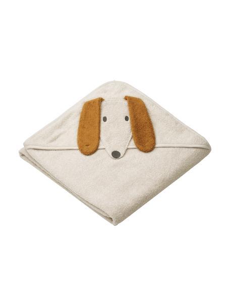 Babyhanddoek Augusta Dog, 100% biokatoen, Beige, 100 x 100 cm