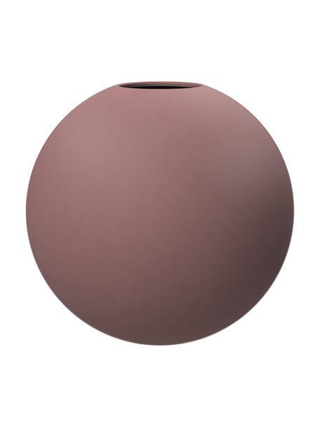 Handgemaakte bolvormige vaas Ball, Keramiek, Oudroze, Ø 10 x H 10 cm