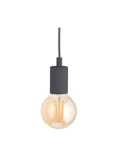 Kleine Pendelleuchte Color, Baldachin: Kunststoff, Grau, Ø 5 x H 6 cm