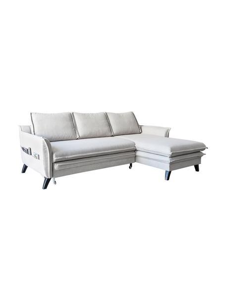 Sofa narożna z funkcją spania i schowkiem Charming Charlie, Tapicerka: 100% poliester, w dotyku , Stelaż: drewno naturalne, płyta w, Beżowy, S 228 x G 150 cm