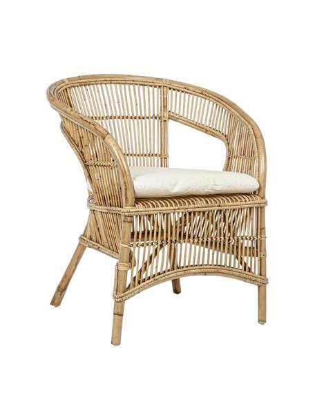 Krzesło z rattanu Consuelo, Beżowy, S 68 x W 82 cm