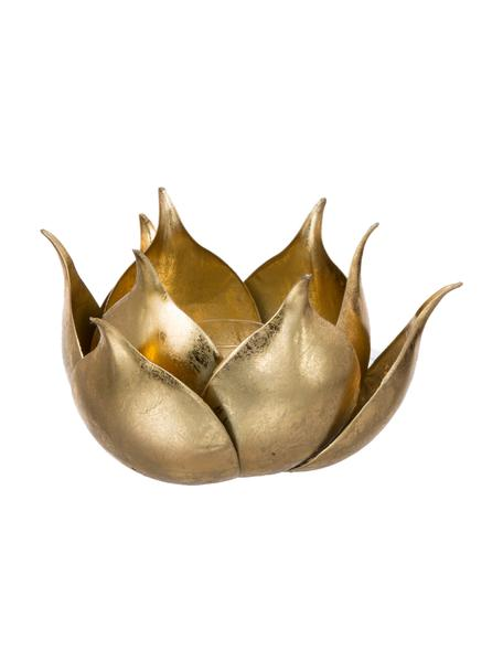 Portavelas Conla, Metal, recubierto, Dorado, Ø 20 x Al 11 cm