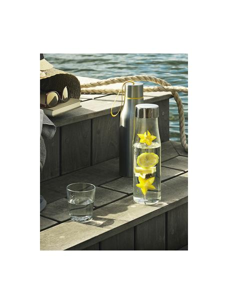 Glazen karaf My Flavour, met fruitspies, 1 L, Deksel: edelstaal, siliconen, Karaf: transparant.  Deksel en spies: edelstaalkleurig, H 28 cm