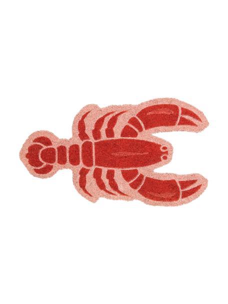 Felpudo Lobster, Fibras de coco, Rosa, rojo, An 40 x L 70 cm