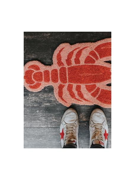 Deurmat Lobster, Kokosvezels, Roze, rood, 40 x 70 cm