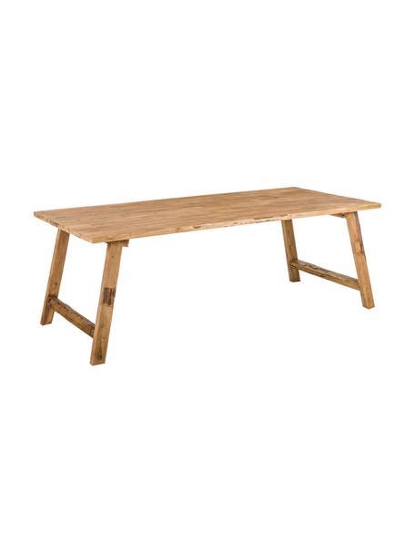 Tavolo in legno di teak riciclato Lawas, Legno di teak, finitura naturale, Legno di teak, Larg. 220 x Prof. 100 cm