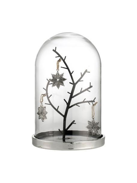 Handgefertigtes Deko-Objekt Bell H 26 cm, Sockel: Metall, Silberfarben, Ø 17 x H 26 cm