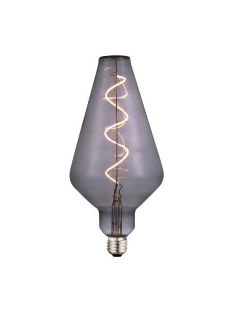 Lampadina E27 XL, 4W, dimmerabile, bianco caldo, 1 pz, Paralume: vetro, Base lampadina: metallo rivestito, Grigio trasparente, Ø 13 x Alt. 23 cm