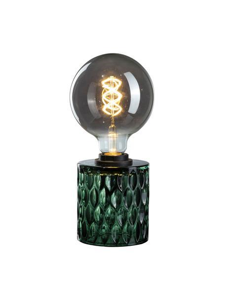 Kleine Tischlampe Crystal Magic aus grünem Glas, Lampenfuß: Glas, Grün, Ø 11 x H 13 cm