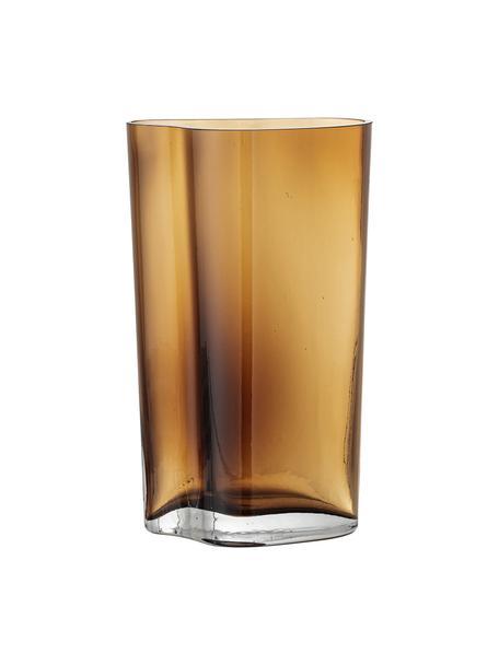 Glazen vaas Benia in bruin, Glas, Bruin, 12 x 20 cm