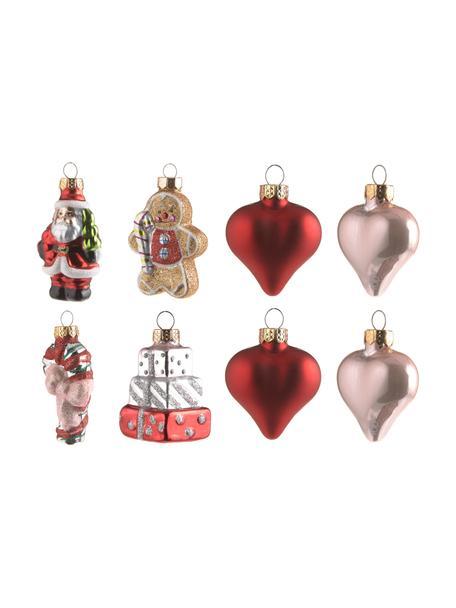 Set de adornos navideños de vidrio Santa, 16uds., Multicolor, Set de diferentes tamaños