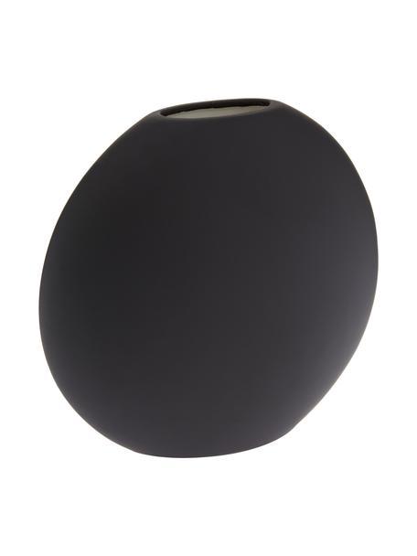 Jarrón artesanal de cerámica Pastille, Cerámica, Negro, An 20 x Al 19 cm