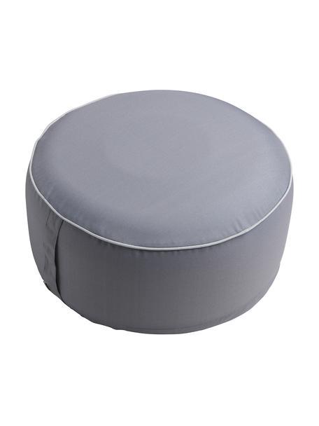Opblaasbare poef Maxime, Bekleding: UV-bestendig polyester, Donkergrijs, wit, Ø 55 x H 25 cm