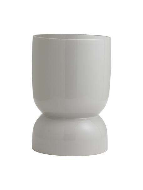 Duża osłonka na doniczkę z ceramiki Ajon, Ceramika, Szary, Ø 18 x W 28 cm