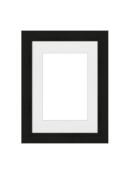 Cornice nera Apollon, Cornice: legno di pino Monterey ve, Retro: Pannello di fibra a media, Nero, 13 x 18 cm
