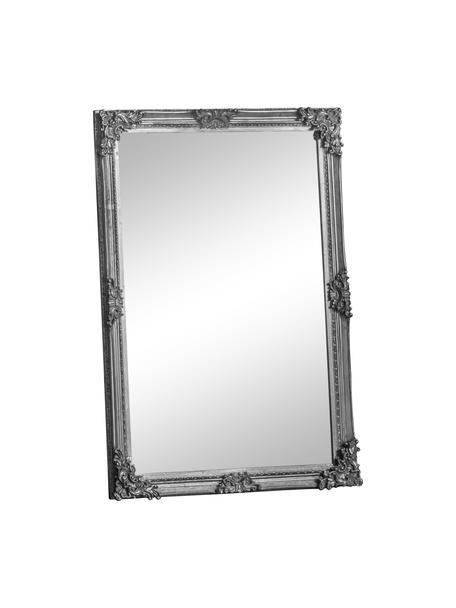 Specchio rettangolare da parete con cornice in legno Fiennes, Cornice: legno verniciato, Superficie dello specchio: lastra di vetro, Argento, Larg. 70 x Alt. 103 cm