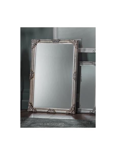 Specchio rettangolare da parete con cornice in legno Fiennes, Cornice: legno verniciato, Superficie dello specchio: lastra di vetro, Argentato, Larg. 70 x Alt. 103 cm