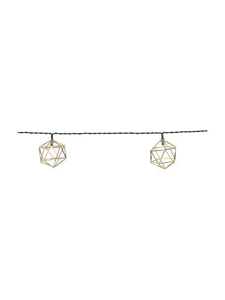 Ghirlanda a LED Edge, 525 cm, 10 lampioni, Lanterne: metallo rivestito, Ottonato, Lung. 525 cm