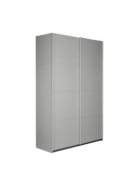 Kleiderschrank Mia mit 2 Schiebetüren in Grau, Holzwerkstoff, beschichtet, Grau, 135 x 210 cm
