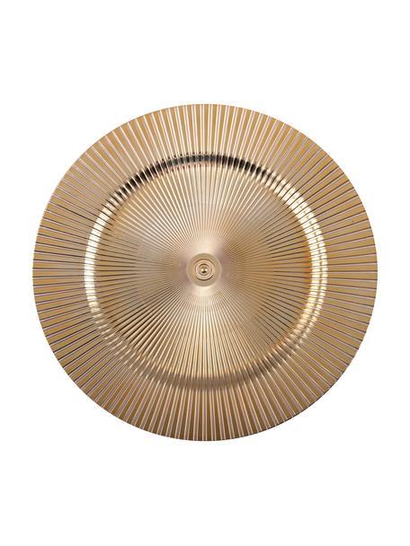 Bajoplato de plástico Elegance, Plástico, Dorado, Ø 31 cm
