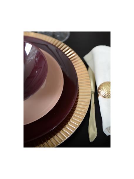 Kunststoff-Platzteller Elegance in Gold mit Rillen, Kunststoff, Goldfarben, Ø 31 cm