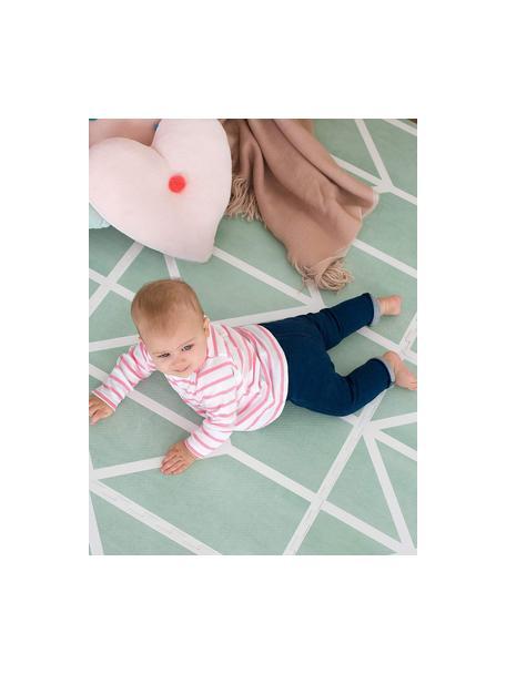 Set de alfombra de juegos Nordic, 18pzas., Espuma (EVAC), libre de productos tóxicos, Verde, crema, An 120 x L 180 cm