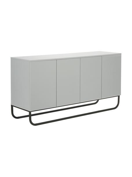 Credenza color grigio chiaro Sanford, Grigio chiaro, Larg. 160 x Alt. 83 cm