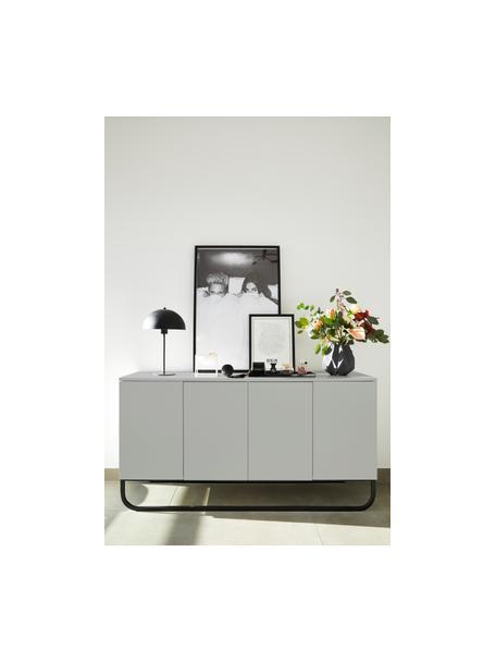 Komoda z drzwiczkami Sanford, Korpus: płyta pilśniowa średniej , Jasny szary, czarny, S 160 x W 83 cm