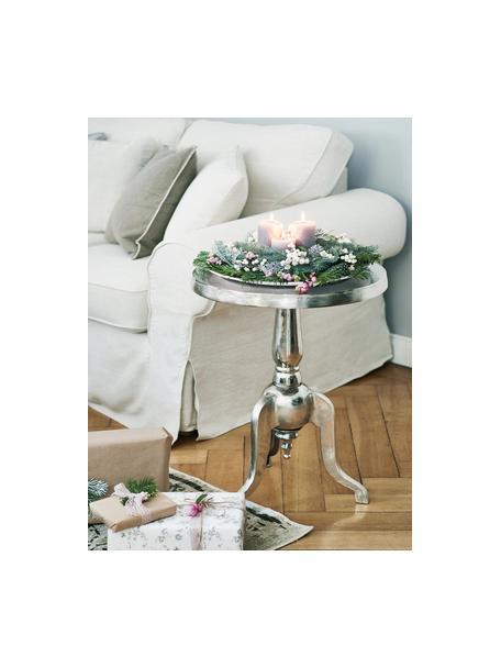 Tavolino rotondo Mona, Alluminio, Alluminio, Ø 51 x Alt. 63 cm