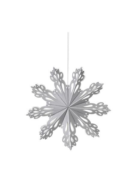 Adornos para colgar copos de nieve Snowflake, 2uds., Papel, Plateado, Ø 15 cm