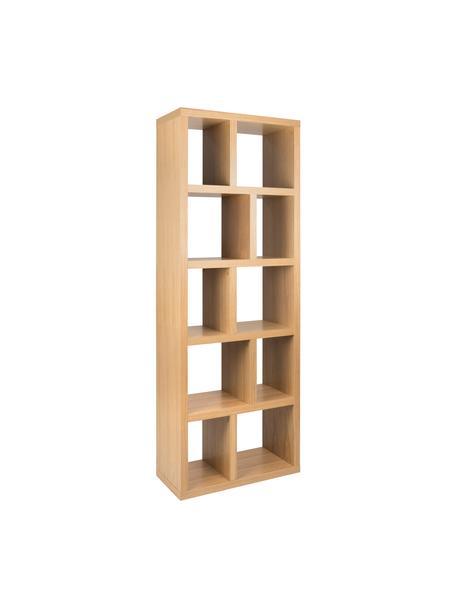 Estantería Portlyn, Estructura: panel en nido de abeja li, Superficie: chapado en madera, Roble, An 70 x Al 198 cm