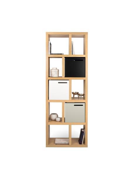 Libreria con finitura in legno di quercia Portlyn, Rivestimento: pannello di fibra a media, Superficie: finitura naturale, Legno di quercia, Larg. 70 x Alt. 198 cm