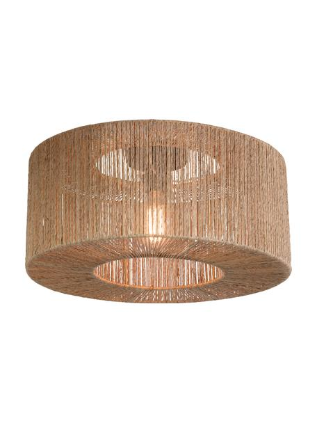 Lampada da soffitto in juta Iguazu, Paralume: juta, Beige, nero, Ø 50 x Alt. 22 cm