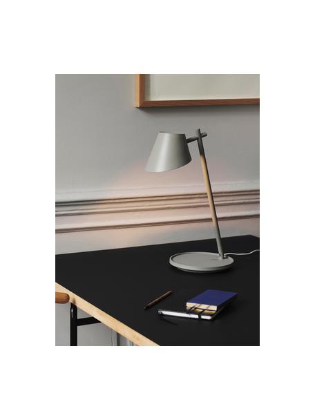 Dimbare LED bureaulamp Stay, Lampenkap: aluminium, Lampvoet: aluminium, kunststof, Grijs, Ø 20 x H 45 cm