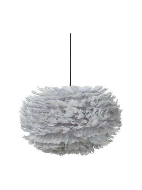 Lampada a sospensione in piume Eos, Paralume: piume d'oca, Baldacchino: materiale sintetico, Grigio chiaro, Ø 45 x Alt. 30 cm