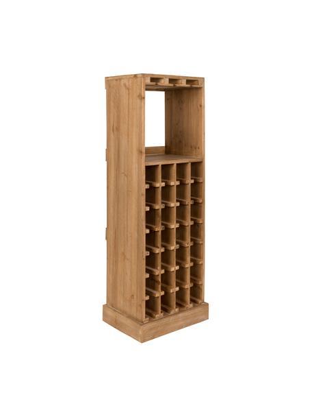 Portabottiglie in rovere per 28 bottiglie Claude, Legno di quercia, Larg. 44 x Alt. 119 cm