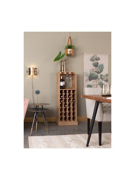 Wijnrek Claude in eikenhout voor 28 flessen, Eikenhoutkleurig, 44 x 119 cm