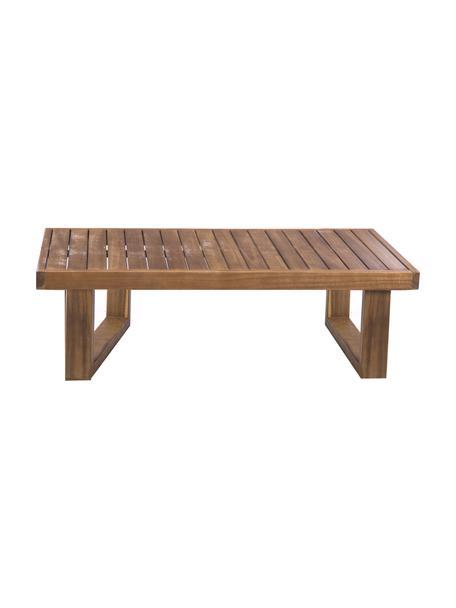Zewnętrzny stolik pomocniczy Cristy, Lite drewno akacjowe, Brązowy, S 100 x W 30 cm