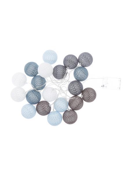 Ghirlanda  a LED Bellin, 320 cm, 20 lampioni, Blu, azzurro, blu scuro, bianco, Lung. 320 cm